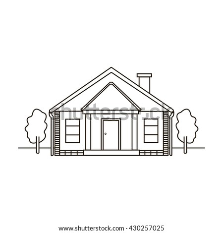 Stock images royalty free images vectors shutterstock for Minimalist house sketch