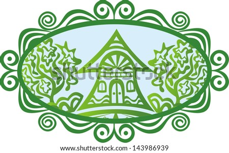 House tree vector illustration - stock vector
