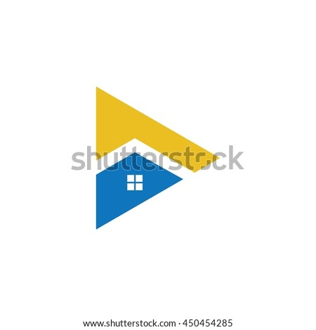 house triangle property logo vector