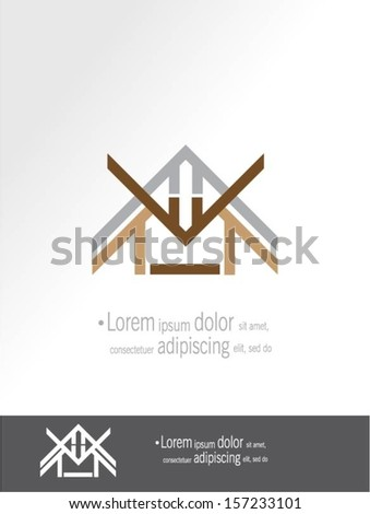 House vector design. - stock vector