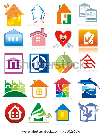 House vector Icons for Web. Construction or Real Estate concept.