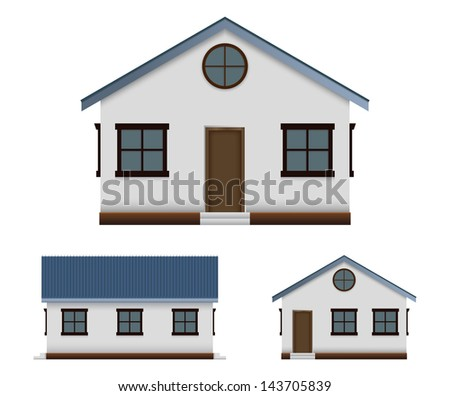 House front view stock images royalty free images for Building houses with side views