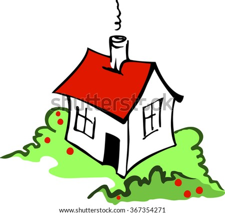 House vector isolated - stock vector