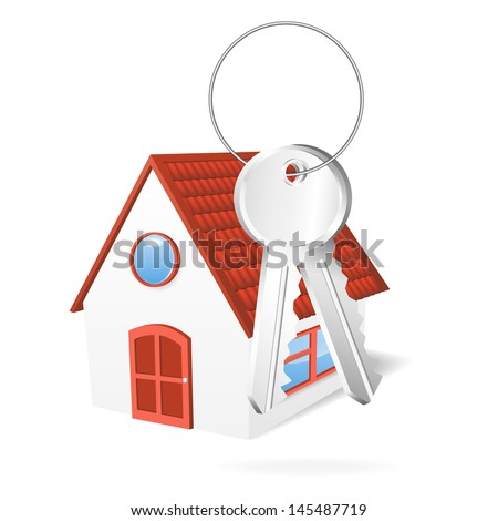 House with a keys. Vector illustration - stock vector