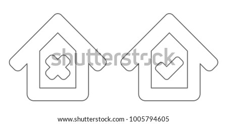 house with checkbox outline icon