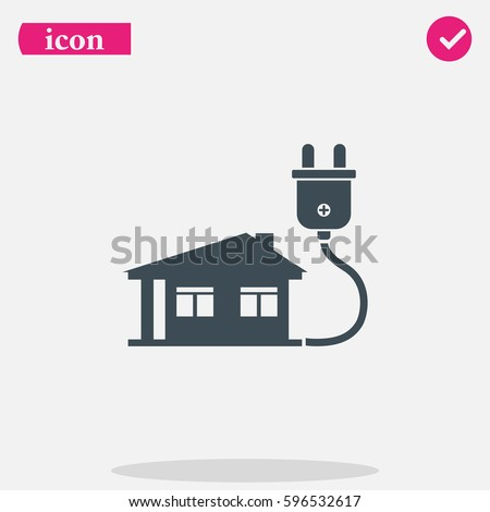 House Electricity Plug Stock Vector 596532617 - Shutterstock