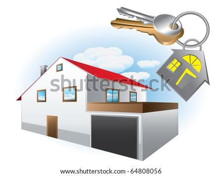 House with keys - stock vector