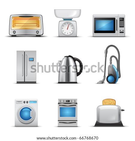 Household appliance - stock vector