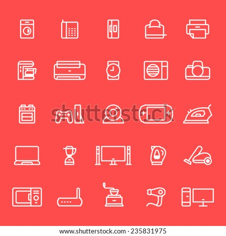 Household appliances icons  - stock vector