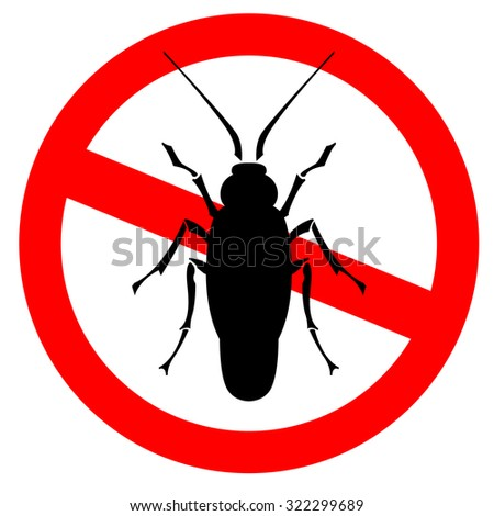 household pest - cockroach silhouette - stock vector