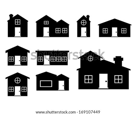 Houses icons set. House vectors set - stock vector