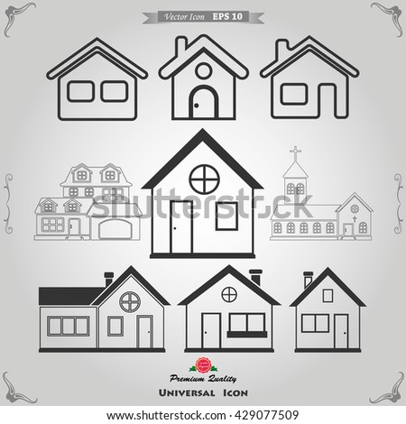 Houses icons set. Real estate. house Icon. house Icon Vector. house Icon Art. house Icon eps. house Icon Image. house Icon logo. house Icon Sign. house Icon Flat. house Icon design. house icon app - stock vector