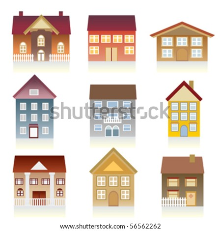 houses various architectural styles stock vector 56562262 shutterstock