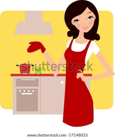 Housewife - stock vector