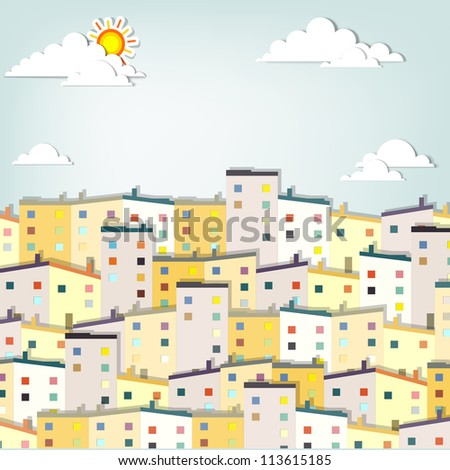 housing estate - stock vector