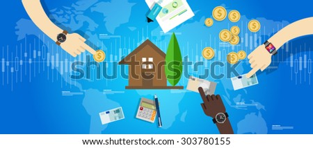 housing house property market value investment - stock vector