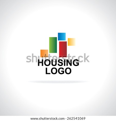 housing logo concept  - stock vector