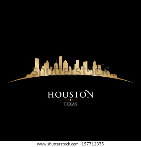 Houston Texas city skyline silhouette. Vector illustration - stock vector