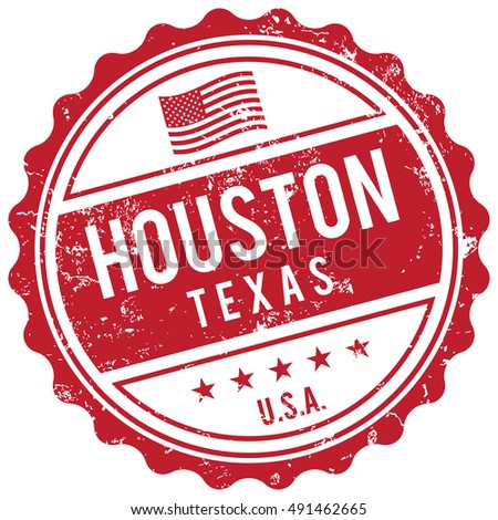 Houston Texas stamp