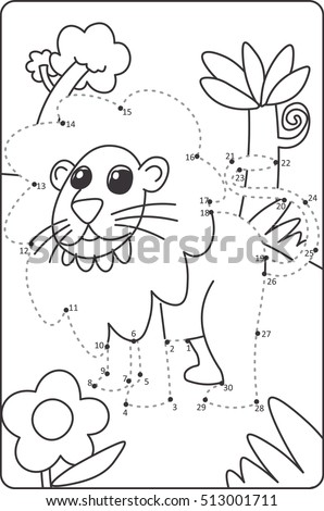 how to draw lion drawing for children dot to dot