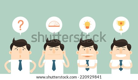 How to succeed in business  - stock vector