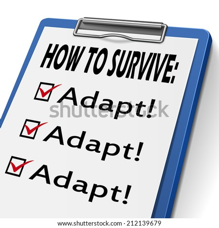 how to survive clipboard with check boxes marked for adapt - stock vector