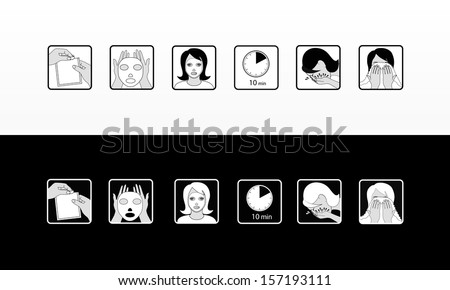 How to Use Cosmetic Mask - stock vector