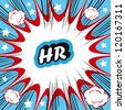 HR human resource boom background - stock photo