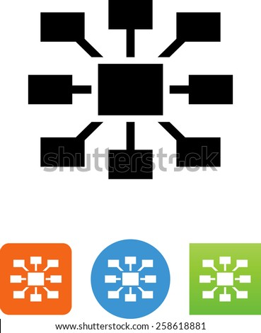 Hub symbol for download. Vector icons for video, mobile apps, Web sites and print projects.  - stock vector