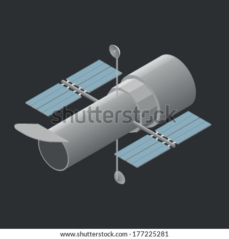 Hubble Space Telescope - stock vector