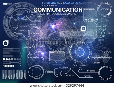 Hud background outer space infographic elements hud background outer space infographic elements futuristic user interface vector science polygonal background voltagebd Image collections
