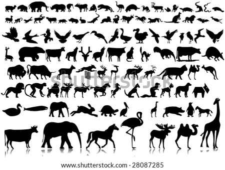 Huge Collection of silhouettes of animals. part 1.