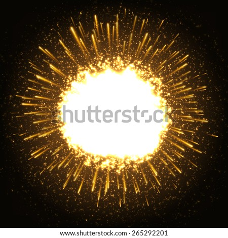 Huge Dazzle Explosion In the Space. Vector Illustration. - stock vector