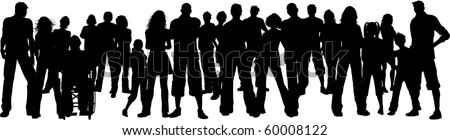 Huge group of people - stock vector