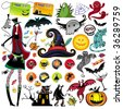 Huge Halloween collection - stock vector