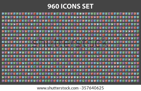 Huge icons set (Animal , Baby , Business, Car, Casino, Computer, Christmas, Ecology, Education, Energy, Eyes, Finance, Food, House, Management, Medical, Party, Shopping, Sport, Travel, Web) - stock vector