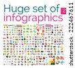 Huge mega set of infographic templates, set 2 - stock vector
