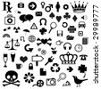 Huge Set of Misc Icons - stock vector