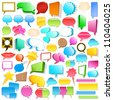Huge speech bubble collection - stock vector