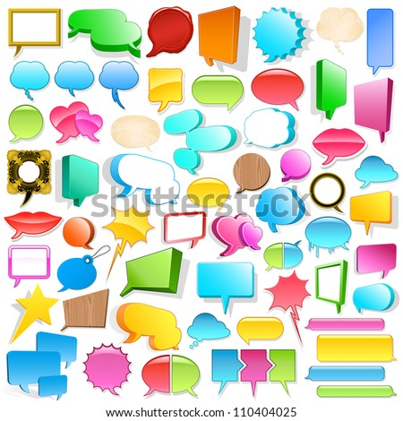 Huge speech bubble collection - stock vector