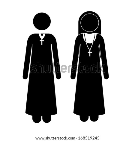 human activities over white background vector illustration - stock vector
