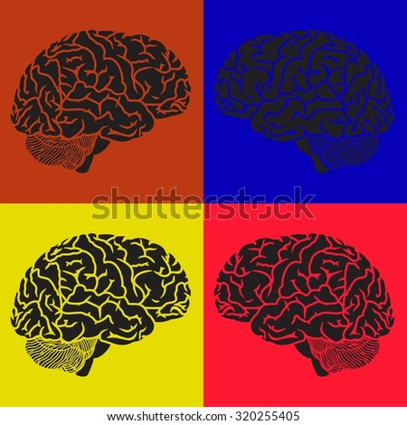 Human brain. Background pattern. Vector illustration - stock vector