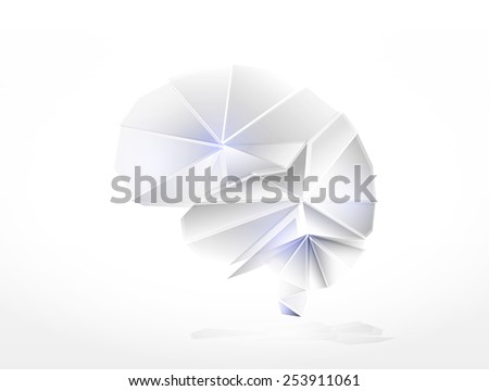 Human brain the creative concept made of glass elements  - stock vector