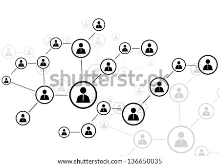 Human connection - stock vector