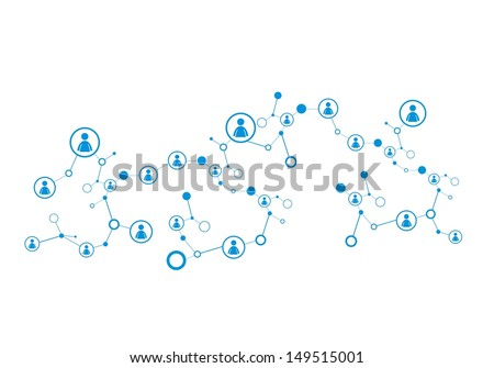 Human Connections - stock vector