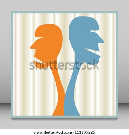 Human disagreement. - stock vector