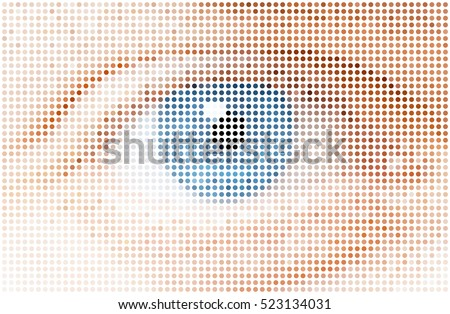 human dots eye, vector illustration