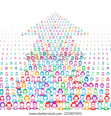 Human faces. Eps8. RGB. Global colors. Gradients free - stock vector