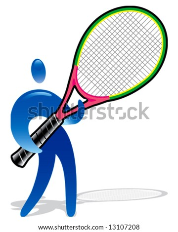 Human figure tennis player