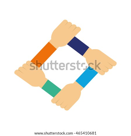 human hand support help icon. Isolated and flat illustration. Vector graphic